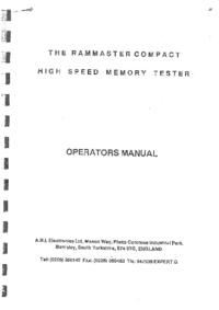 Manuale d'uso A.B.I.Electronics Rammaster Compact