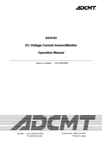User Manual ADC 6243