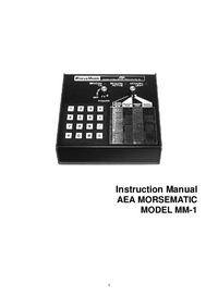Servicio y Manual del usuario AEA Morsematic MM-1