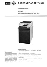 Service and User Manual AEG WSP 220