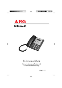 User Manual AEG Milano 40