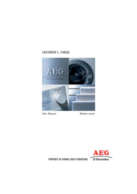 User Manual AEG LAVAMAT L 14850