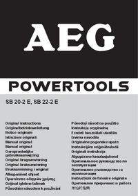 User Manual AEG SB 20-2 E