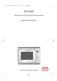 User Manual AEG MCC4060E