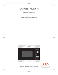 Руководство пользователя AEG MC1761E