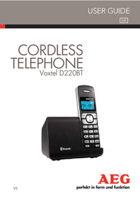 User Manual AEG Voxtel D220BT