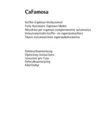 Manual do Usuário AEG CaFamosa