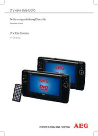 Instrukcja obsługi AEG CTV 4944 DVB-T/DVD