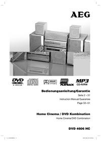 Bedienungsanleitung AEG DVD 4606 HC