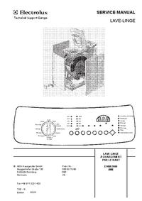 Servicehandboek AEG EWM 2000