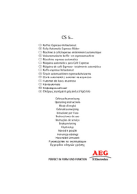User Manual AEG CS 5200
