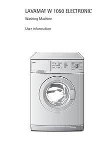 Manuale d'uso AEG LAVAMAT W 1050 ELECTRONIC