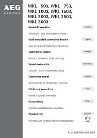 Manual del usuario AEG WKL 2003