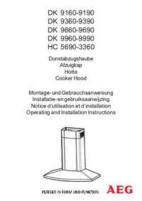 Bedienungsanleitung AEG DK 9390