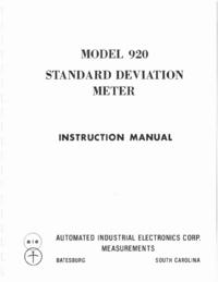 Servicio y Manual del usuario AIE 920