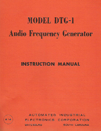Servicio y Manual del usuario AIE DTG-1