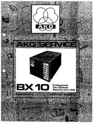 Руководство по техническому обслуживанию AKG BX 10