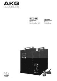 Обслуживание и Руководство пользователя AKG BX 25E