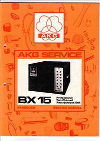 Service- und Bedienungsanleitung AKG BX 15