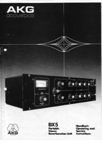Service and User Manual AKG BX 5
