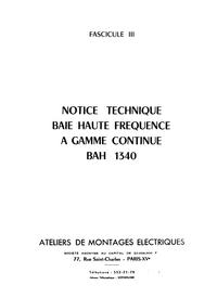 Manuale di servizio AME BAH 1340