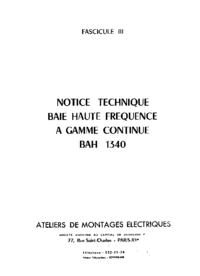 Service and User Manual AME BAH-130