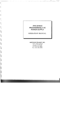 Manual del usuario AMREL PPS Series