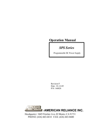 Manual del usuario AMREL SPS Series