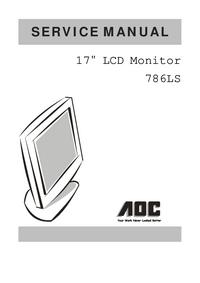 manuel de réparation AOC 786LS