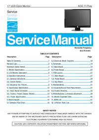 Manual de serviço AOC 717Fwy