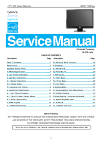 Service Manual AOC 717Fwy