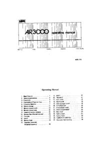 Bedienungsanleitung AOR AR3000