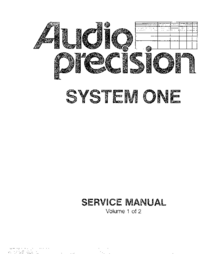 Service Manual AP System One SYS-20