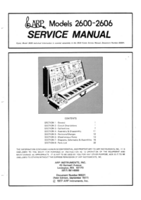Service Manual ARP 2605