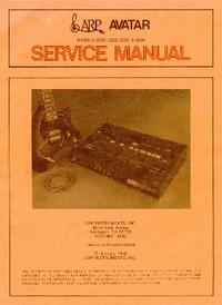 Service Manual ARP Avatar 2222