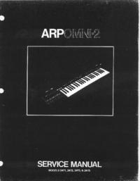 manuel de réparation ARP Omni-2 2475