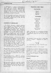 manuel de réparation ARP Quartet