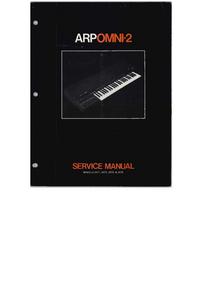 Servicehandboek ARP Onmi-2 2474