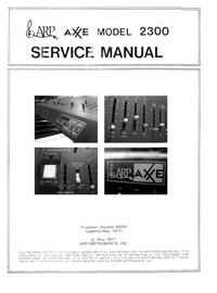 manuel de réparation ARP Axxe 2300