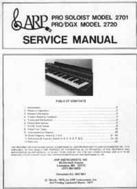 Manuale di servizio ARP Pro Soloist 2701