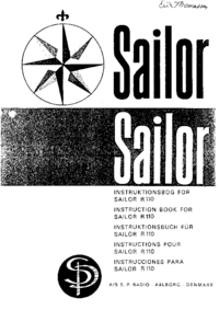 Servicio y Manual del usuario ASSPRadio Sailor R-110