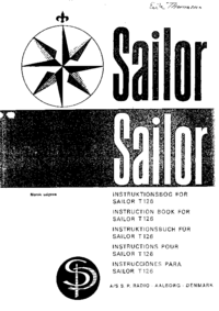 Serwis i User Manual ASSPRadio Sailor T-126
