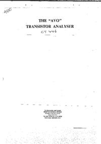 Serviço e Manual do Usuário AVO CT 446