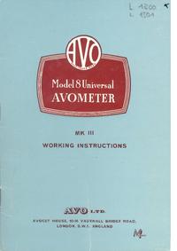 Обслуживание и Руководство пользователя AVO Avometer 8 MK III