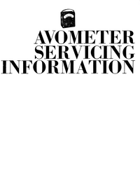 Service Manual AVO Avometer