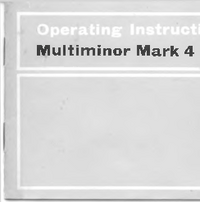 Serwis i User Manual AVO Multiminor Mark 4