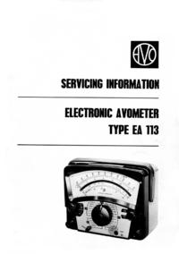 Руководство по техническому обслуживанию AVO EA 113