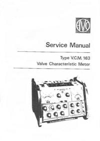 Service Manual AVO VCM 163