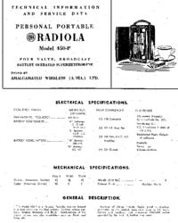 manuel de réparation AWA Radiola 450-P