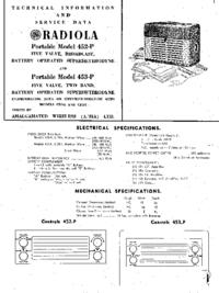 Servicehandboek AWA Radiola 452-P